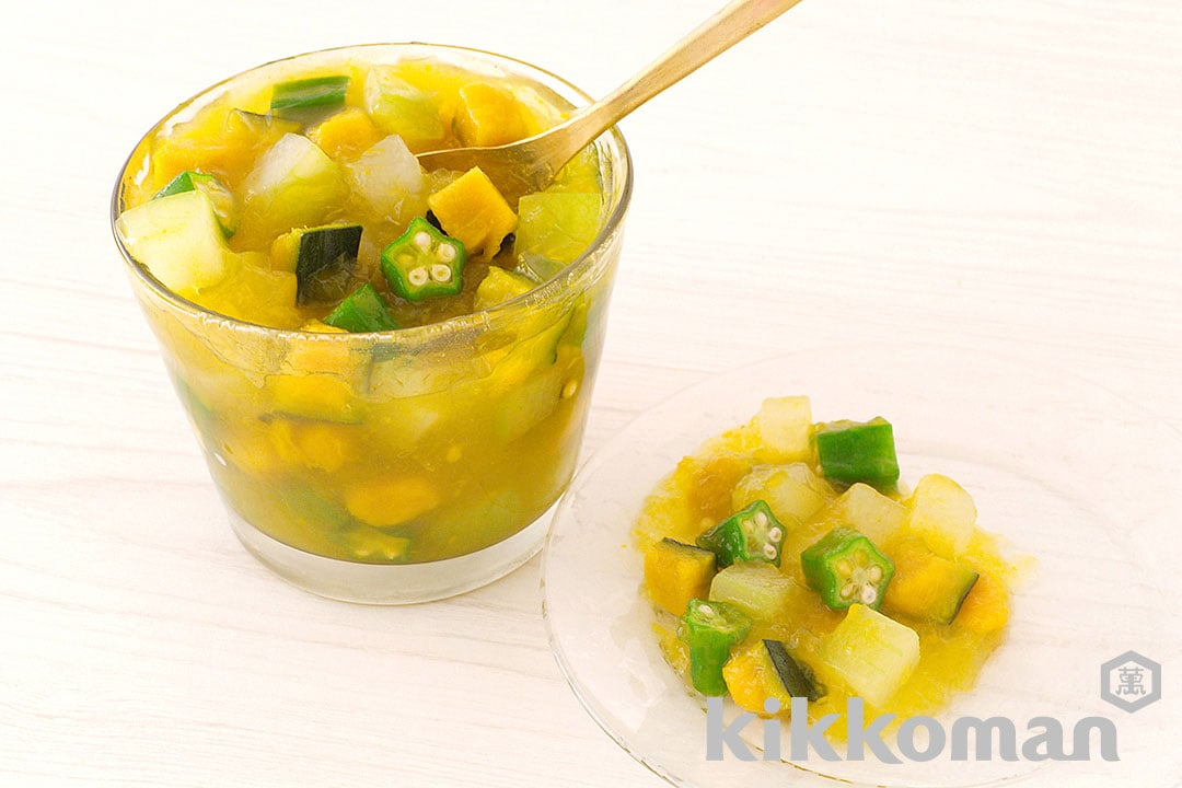 Photo: Summer Vegetables in Bonito Consommé Jelly
