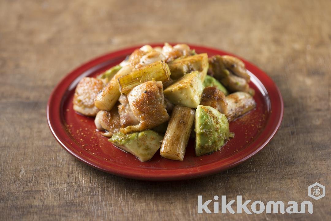 Photo: Grilled Chicken with Avocado and Long Onion